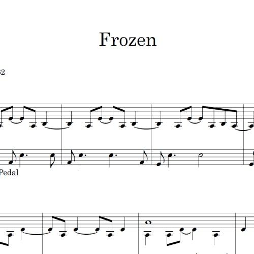 Frozen sheet music