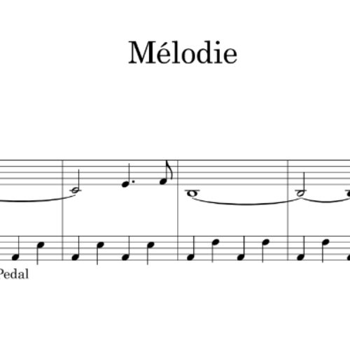 Melodie sheet music
